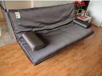 £110 3 Seater Innovation Sofa Bed Click Clack Futon (Memory Foam)