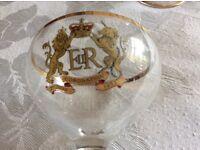 Babysham glasses commemorating the Queen's coronation.