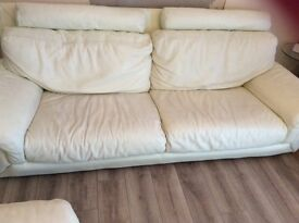 3 seater sofa and footstol