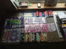 18th Birthday Party Banners