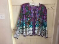 Rare. Vintage stunning Silk and sequin Past Time jacket