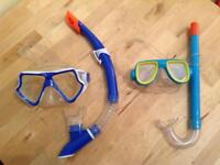 child's mask & snorkel (on right in photo)