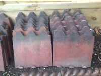 Victorian Terracotta 3 Hump Edging Tiles (Originals)