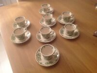 Mason's, espresso coffee cups and saucers.