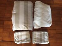Fleece quilt cover, fitted sheet and two pillow cases