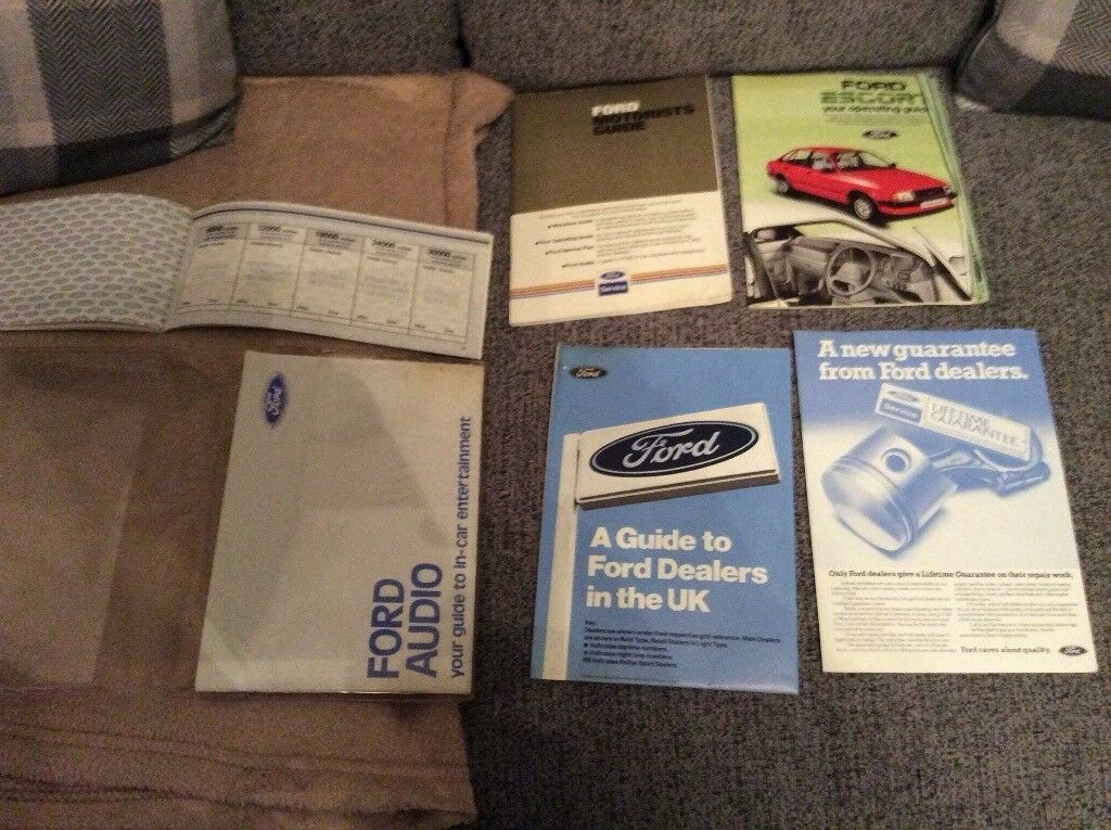 Escort rs turbo series 1 unused service pack