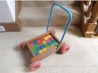 Child's Trolley with play bricks