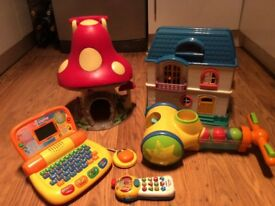 Large bundle of toys (inc doll house, magic mushroomed house, laptop and pop up balls)