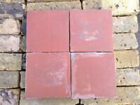"RECLAIMED 6X6"" RED VICTORIAN QUARRY TILES - LARGE STOCK."