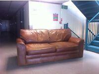 Brown Leather Vintage Sofa