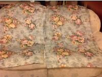 Vintage cottage curtains 90 inch wide X 51 inch drop