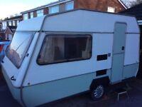 MARAUDER 2+berth vintage caravan/project/kids den. Used on many camping holidays!