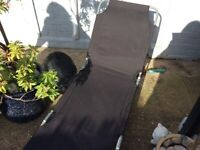 Black Folding Sun Bed