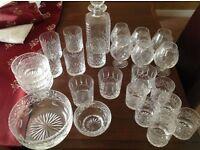 Derwent crystal glass assortments