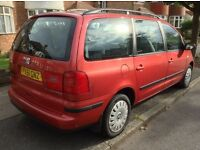 2001 SEAT ALHAMBRA 1.9 tdi**7 SEATER**NEW TYRES ALL ROUND, mot, HPI CLEAR, upgraded stereo,
