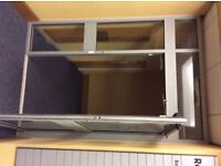1 Glass revolving door with wheel chair access