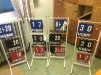 Score board for lawn bowls