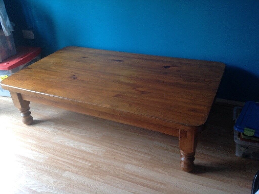 Large Wooden Coffee Table