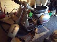 2011 lml125 (vespa) malossi swap/px motorbike