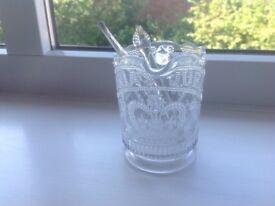 Victoria's jubilee glass jug 1837-1887