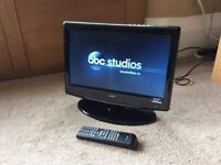 """Alba 16"""" HD LCD tv with freeview and remote"""