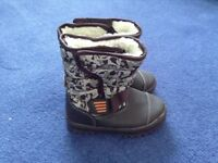 New boys winter snow boots brown camo george size infant 8