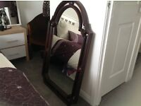 """MIRROR DECORATIVE WITH ARCHED TOP MIRROR INSET ALL ROUND 42"""" x 26"""""""