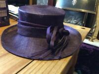 Purple wedding hat