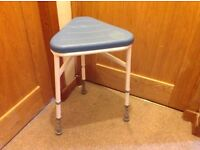 Waterproof stool for shower/bath with adjustable legs - NEW