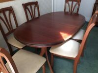 Dining table & 6 chairs - £100