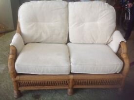 WICKER SOFA & cushions