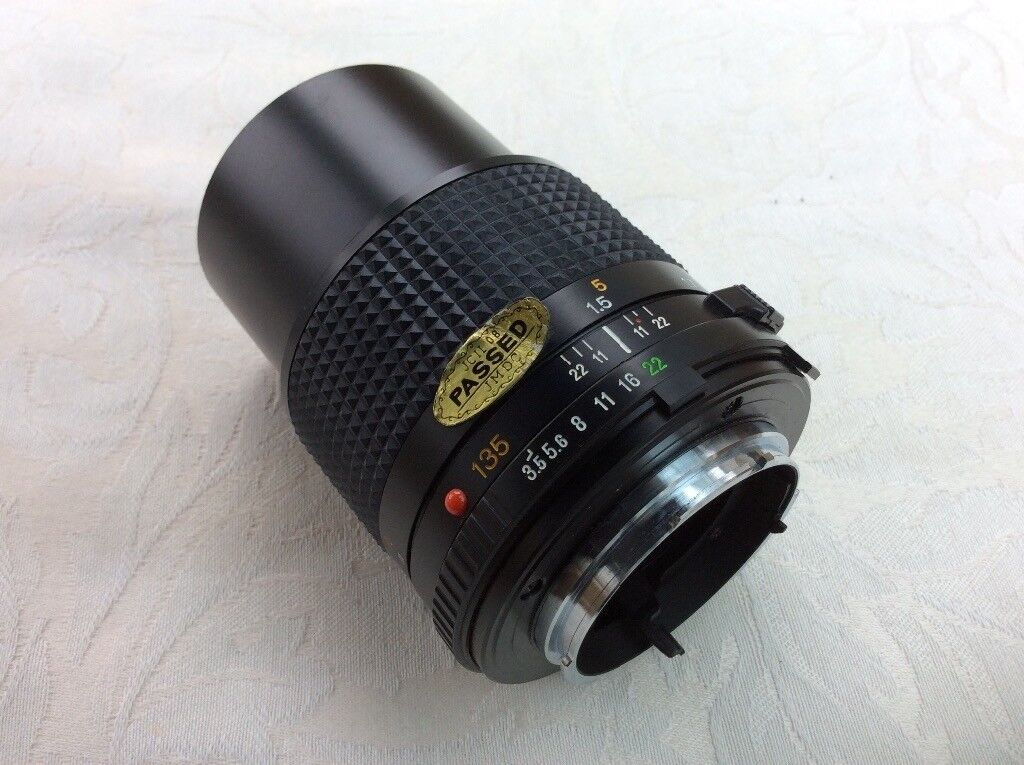 Minolta MD 135mm 1:35 camera lens