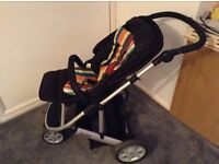 Mamas and papas zoom pushchair and carry cot with plastic cover