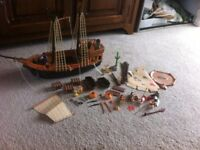 Playmobil pirate and western set