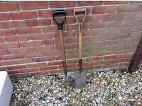 Ladies spade and fork good condition to sell together