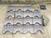 16 Original Staffordshire Blue Victorian Decorative Path Edging Stones