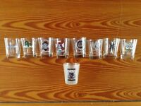FINAL REDUCTIONS! WWE WRESTLING SHOT GLASSES, MINT CONDITION, IDEAL CHRISTMAS PRESENT.