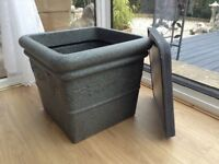 Large Stewart Square Granite effect lightweight Plantpot
