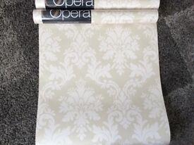 3 rolls of unused wallpaper