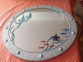 Handmade bathroom mirror