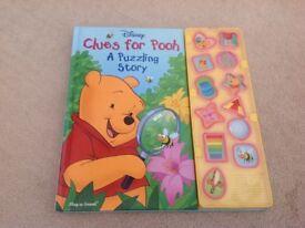 Disney Winnie poo interactive Puzzle reading Book,