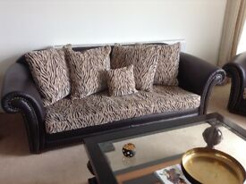 3 Piece Suite Leather with footstool