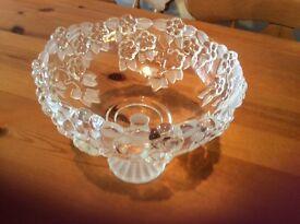 Embossed glass bowl