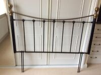 Kingsize Headboard. Wrought iron, black and gold. Excellent condition.