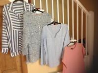 Ladies blouses, sizes 20/22, all ex condition and good quality fabrics, 8 blouses