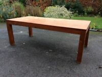 Wooden dining table - eight seater