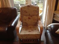Wicker chair ideal for conservatory or large bedroom
