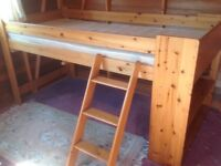 Solid Pine Mid Sleeper Single Bed