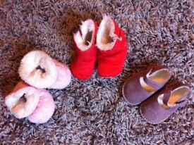 BUNDLE OF 6 CUTE AND WARM WINTER BABY GIRL SHOES