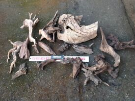 Aquarium bogwood collection - many pieces